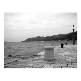 Korcula Seaside in Winter Postcard