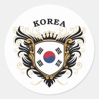 Korea Classic Round Sticker
