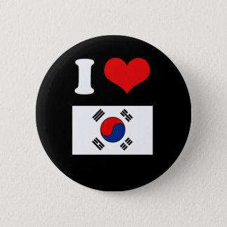Korea Flag 2 Inch Round Button