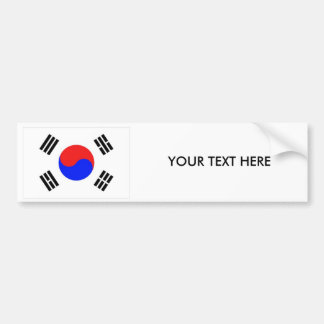 KOREA FLAG Bumper Sticker