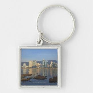 Korea, Gyeongsangnam-do, Busan, Gwangan beach Silver-Colored Square Keychain