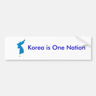 Korea is One Nation Bumper Sticker