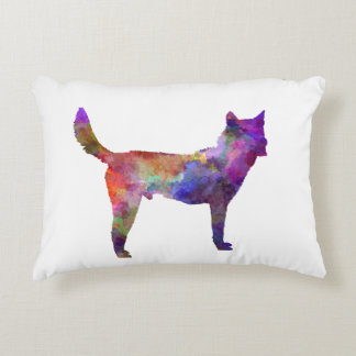 Korea Jindo Dog in watercolor Decorative Pillow