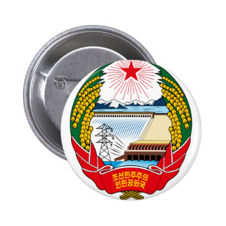 korea north emblem 2 inch round button