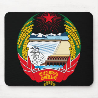 korea north emblem mouse pad