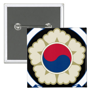 korea south emblem 2 inch square button