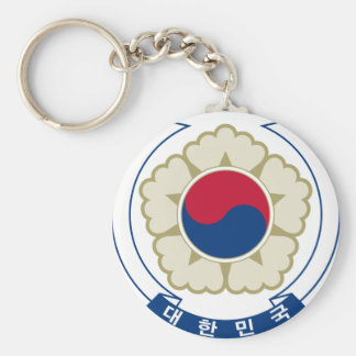 korea south emblem keychain
