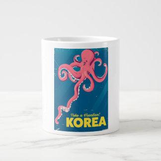 Korea Vacation poster Large Coffee Mug