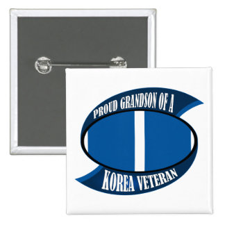 Korea Vet Grandson 2 Inch Square Button