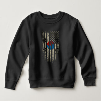 Korean American Flag Grunge Sweatshirt