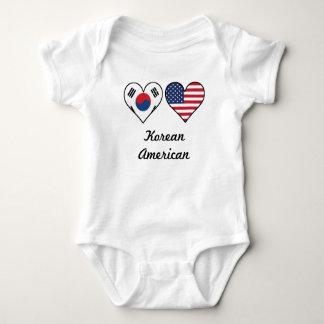 Korean American Flag Hearts Baby Bodysuit
