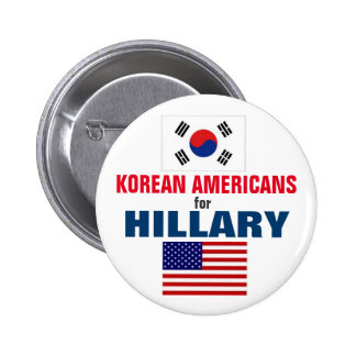 Korean Americans for Hillary 2016 2 Inch Round Button