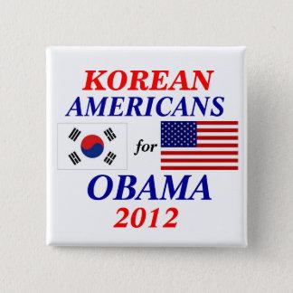 Korean americans for Obama 2 Inch Square Button