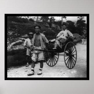 Korean Aristocrat Rickshaw 1910 Poster
