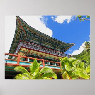 Korean Buddhist Temple Poster