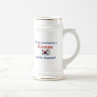Korean Builds Character 18 Oz Beer Stein