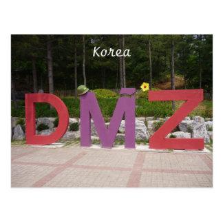 korean dmz postcard