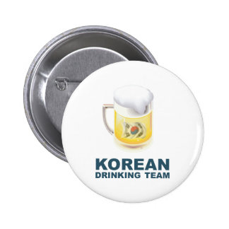 Korean Drinking Team 2 Inch Round Button