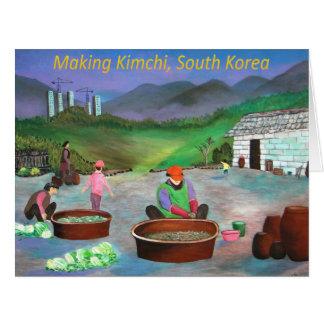 Korean Family Making Kimchi 김치 Card