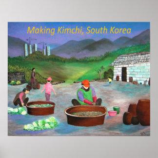 Korean Family Making Kimchi 김치 Poster