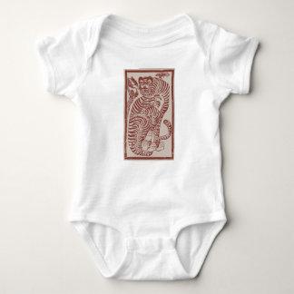 Korean Folk Art Tiger Baby Bodysuit