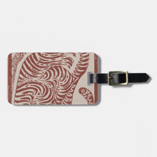 Korean Folk Art Tiger Luggage Tag