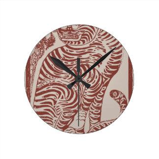 Korean Folk Art Tiger Round Clock