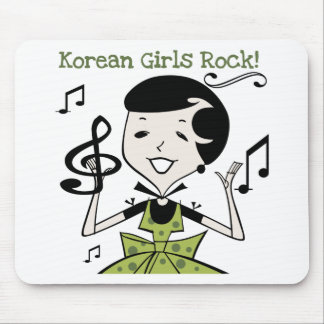 Korean Girls Rock Mouse Pad