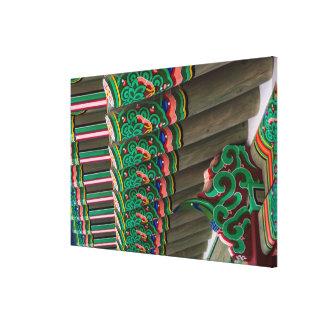 Korean Ornate Roof Detail Canvas Print