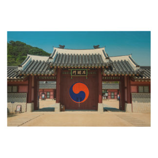 Korean Palace Gate Wood Wall Art