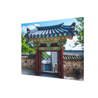 Korean Temple Gate Canvas Print