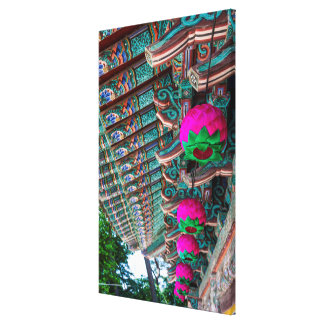 Korean Temple Roof Detail Canvas Print