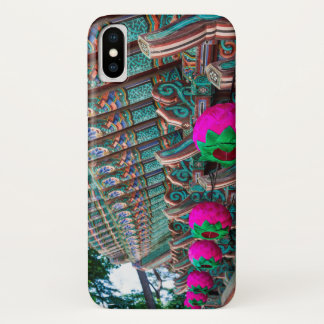 Korean Temple Roof Detail iPhone X Case