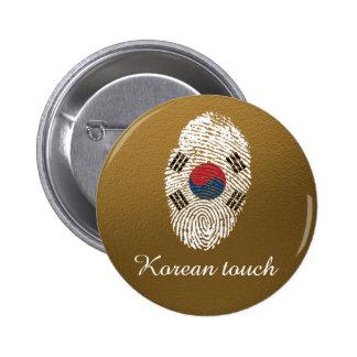 Korean touch fingerprint flag 2 inch round button