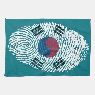 Korean touch fingerprint flag kitchen towel