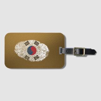 Korean touch fingerprint flag luggage tag