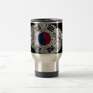 Korean touch fingerprint flag travel mug