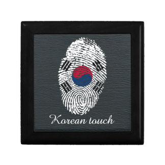 Korean touch fingerprint flag trinket box