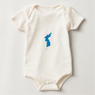 Korean Unification Communist Socialist Flag Baby Bodysuit