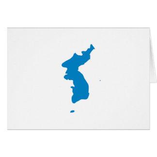Korean Unification Communist Socialist Flag Card