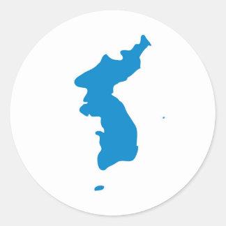 Korean Unification Communist Socialist Flag Classic Round Sticker