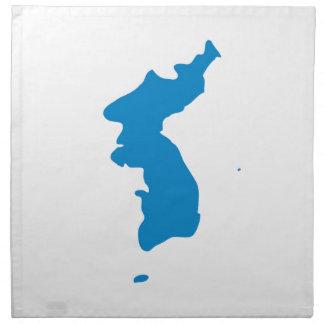 Korean Unification Communist Socialist Flag Napkin