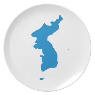 Korean Unification Communist Socialist Flag Plate