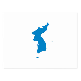 Korean Unification Communist Socialist Flag Postcard