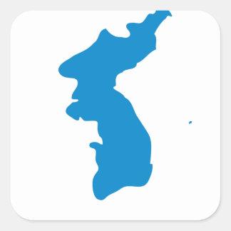 Korean Unification Communist Socialist Flag Square Sticker