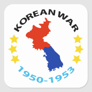 KOREAN WAR DATE SQUARE STICKER