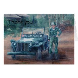 Korean War Hero Thank You Card