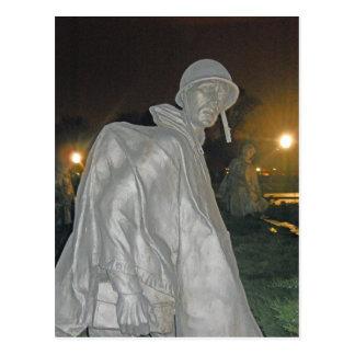 Korean War Memorial at Night Washington DC 001 Postcard