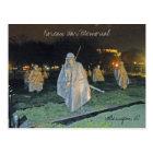 Korean War Memorial at Night Washington DC 003 Postcard