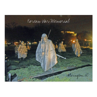 Korean War Memorial at Night Washington DC 003 Postcard